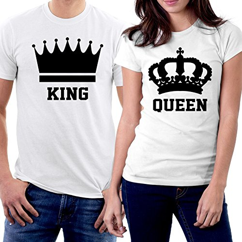 picontshirt King and Queen Couple T-Shirts Men XXL/Women, used for sale  Delivered anywhere in USA