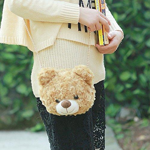 Amazon.com: ysmywm Niñas Cute Fuzz oso panda cartera de ...