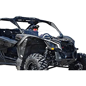 SuperATV Heavy Duty Half Windshield for Can-Am Maverick X3 900 / Turbo/X RS/X DS/X MR/MAX (2017+) - Clear Standard Polycarbonate