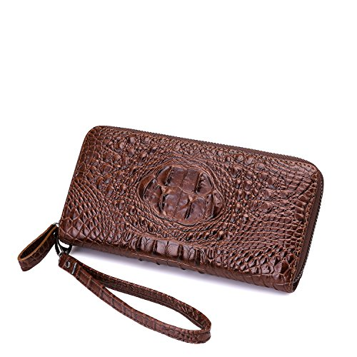 Realer Womens Leather Long Wallet Purse Zipper Pocket