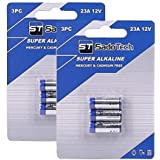 A23 Battery for Household Electronics Garage Door Opener and Official A23 Battery Replacement for SadoTech Doorbell Battery and Accessories, Long Lasting, 2 Pack (6 Batteries)