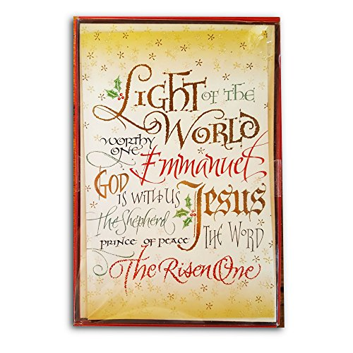Lights Boxed Holiday Cards (Holiday Boxed Greeting Cards with Envelopes (16 ct) - Light of the World)