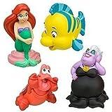 Disney Parks Exclusive The Little Mermaid Ariel Squeeze Bath Toys Set of 4