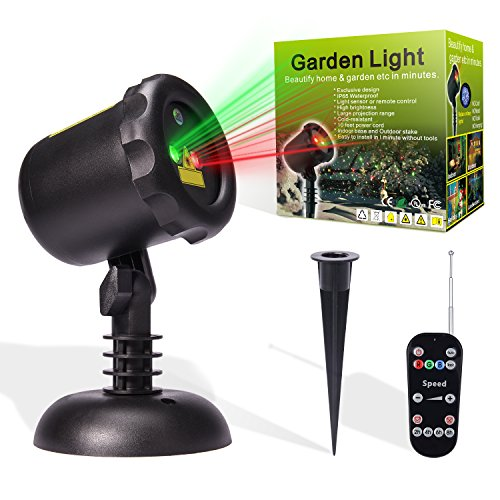 MicTuning 12 Patterns Star Light Show Christmas Light Projector with 65.5ft RF Remote & Timer for Holiday, Parties, Halloween, Landscape and Garden Decoration