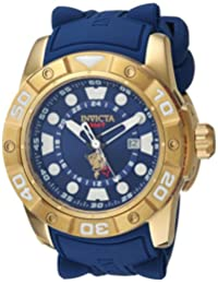 Invicta Men's 'Sea Base' Quartz Stainless Steel and Silicone Casual Watch, Color:Blue (Model: 20180)