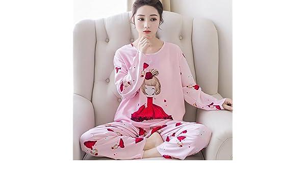 Amazon.com: MH-RITA Autumn Winter Pyjamas Women Carton Cute Pijama Pattern Thicker Pajamas Set Cotton Pijamas Mujer Sleepwear Pink Girl Nightwear,C Yi Shan ...