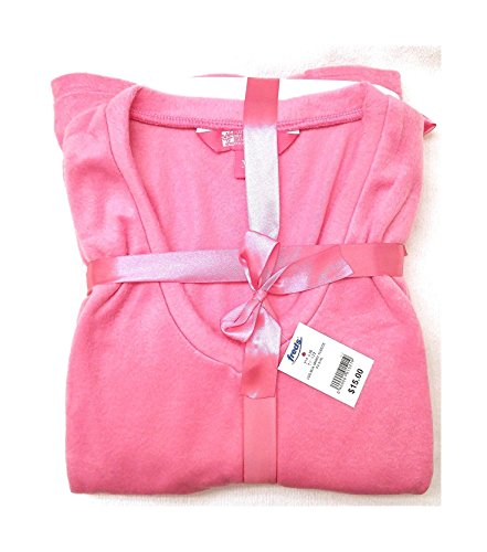 Fleece Breast Cancer (Ladies Breast Cancer Awareness Minky Fleece PJ Pant Set, Pink, Large, (Sizes Run A Little Small))