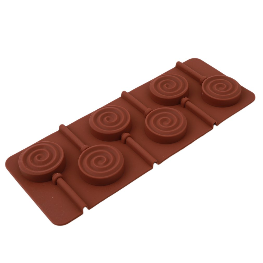 HENGSONG 6 Holes Silicone Chocolate Lollipop Mold Cake Pop Mold Lollipop Cupcake Baking Tool (Round) mei_mei9