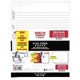 omega 15000 - Five Star Filler Paper, Wide Ruled, Reinforced, Loose Leaf Paper, 10.5 x 8-Inches, 100 Sheets/Pack