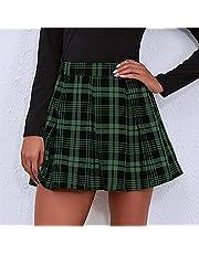 Plaid zomer vrouwen rok hoge taille geplooide rokken vrouwen schattige zoete meisjes dans mini rok Japanse school uniforme kleding