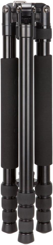63 Tripod Max Height 61.4 Monopod Max Height 26.5 lbs Load Capacity Sirui N-1004KX 4-Section Aluminum Alloy Tripod