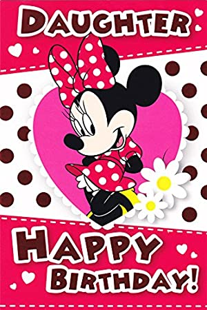 Minnie Mouse Birthday Card Daughter Amazon Kitchen Home