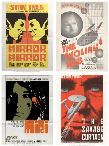 QMx Star Trek The Original Series Art Prints Set 6 -