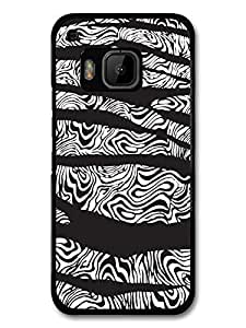 Zebra Stripe and Oil Ripple in Black and White Design carcasa de HTC One M9