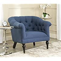 Safavieh Mercer Collection Nicolas Club Chair, Steel Blue