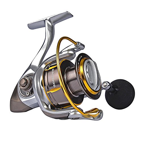 KastKing Kodiak Saltwater Spinning Reel - 39.5 LB Carbon Fiber Drag, All Aluminum, 10 + 1 Stainless Steel Shielded Bearings, Enhanced Stainless Steel Main Shaft(Kodiak3000)