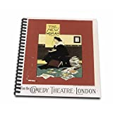 3dRose db_149348_1 Vintage The New Woman From The Comedy Theatre London Advertising Poster Drawing Book, 8