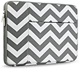 HSEOK Laptop Sleeve, Waterproof Neoprene Case Bag Cover for 12.9 iPad Pro / 13 - 13.3 Inch Notebook Computer / MacBook Air / MacBook Pro with Side Pocket for Small items, Chevron Gray