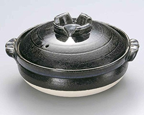 Ruri for 4-5 persons 11.4inch Donabe Japanese Hot pot Green Ceramic Made in Japan by Watou.asia