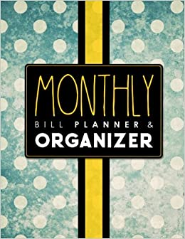 Monthly Bill Planner Organizer Bill Pay Log Home Budget