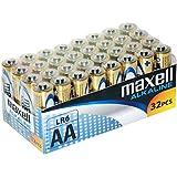 Maxell LR6 - Pilas alcalinas AA, 32 unidades
