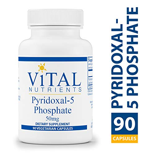 Activated Barley - Vital Nutrients - Pyridoxal-5 Phosphate 50 mg - Activated Vitamin B6-90 Capsules