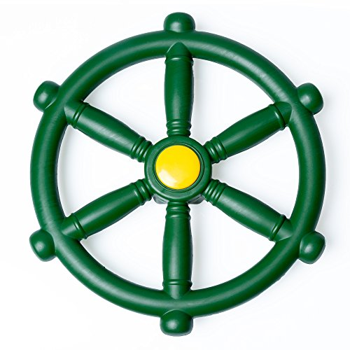 Kids Playground Steering Wheel – Pirate Ship Wheel for Jungle Gym or Swing Set (Wheel Steering Set Swing)