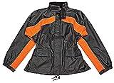 Joe Rocket 1010-2707 RS-2 Men's Motorcycle Rain Suit (Black/Orange, XXX-Large)