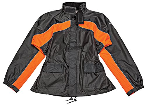 Joe Rocket RS-2 Men's Motorcycle Rain Suit (Black/Orange,...