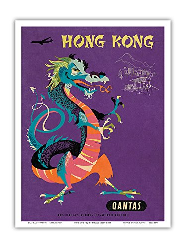 hong-kong-qantas-airways-chinese-treasure-dragon-vintage-airline-travel-poster-by-harry-rogers-c1960