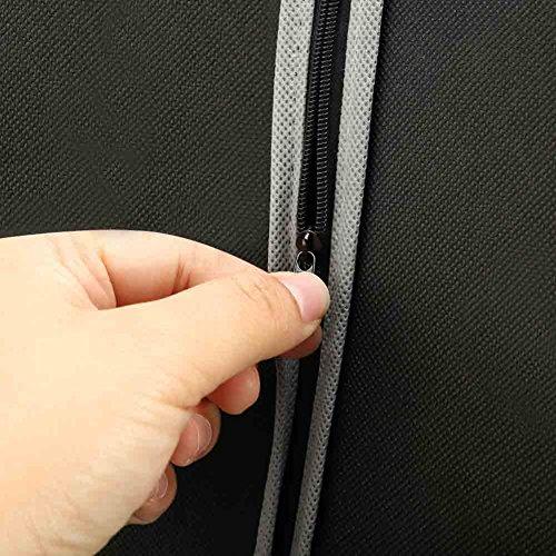 Garment Bag, EZOWare Black Foldable Breathable Garment Suit Dress Jacket Coat Dust Cover