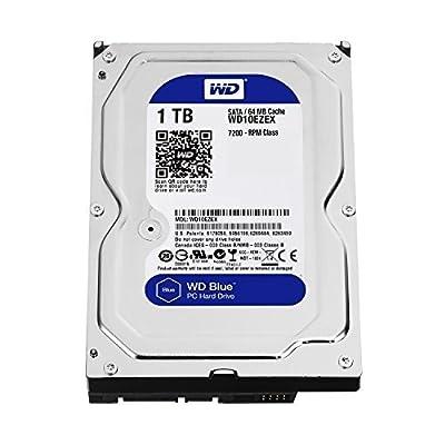 WD Blue 1TB Desktop Hard Disk Drive - 7200 RPM SATA 6 Gb/s 64MB Cache 3.5 Inch - WD10EZEX by Western Digital