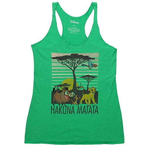 Fifth Sun Lion King Savana Pride Juniors Racerback Tank Top - Green (Small) (Top Tank Juniors Pride)