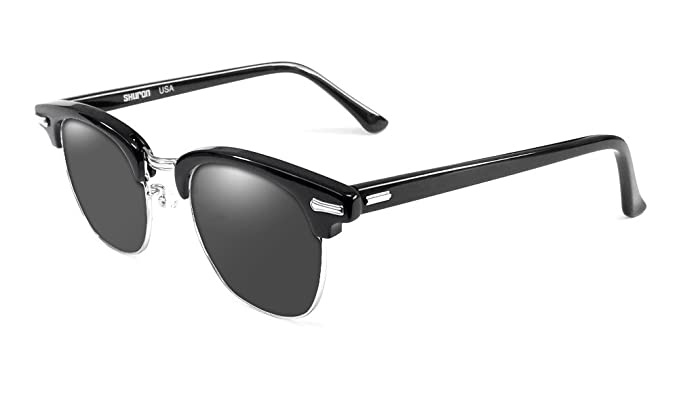 29cedccb5ce2 Amazon.com: Shuron Ronsir Polarized Sunglasses in Ebony with Grey Lens:  Clothing