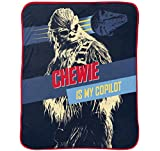 Star Wars Han Solo Vehicle Stripe 62'' x 90'' Plush Blanket with Chewbacca