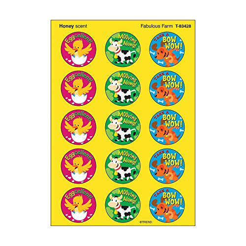 Trend Enterprises Fabulous Farm/Honey Stinky Stickers (60 Piece), Multi