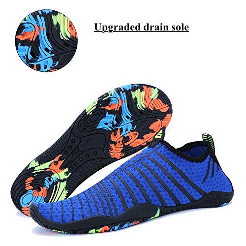 Running Men Sports Swim Aqua Quick Beach 5 blue Shoes Walking Water Dry Shoes Barefoot Socks WXDZ Pool Women ZdwnfCqq