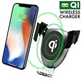 Wireless Charge Car Mount Holder - Qi Fast Charging Car Mount with Air Vent for iPhone - Samsung - HTC - LG and Other QI-Enabled Devices (Main)