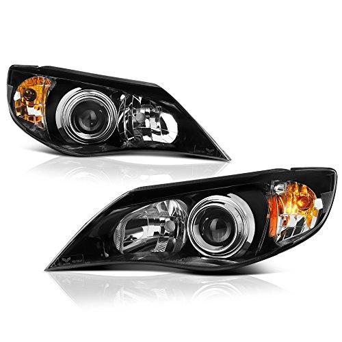 - VIPMOTOZ Black Housing OE-Style Projector Headlight Headlamp Assembly For 2008-2014 Subaru Impreza & WRX Halogen Model, Driver & Passenger Side
