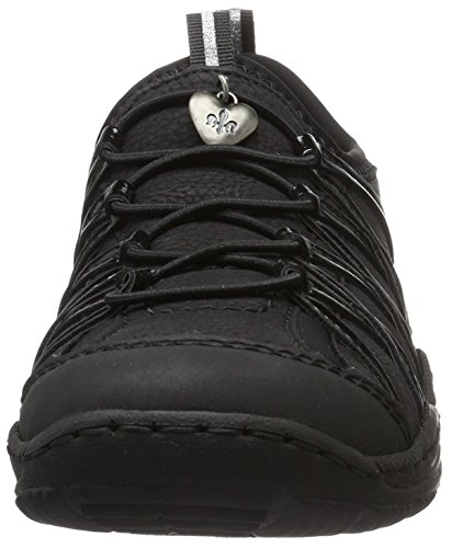 Noir Basses Baskets Rieker Femme L0559 qYIpwp