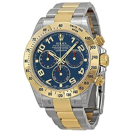 Rolex Daytona 116523BLAO - Reloj para hombre, cronógrafo, diseño de acero, oro amarillo y esfera azul: Rolex: Amazon.es: Relojes