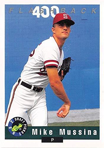 Mike Mussina baseball card (Stanford University Cardinals) 1992 Classic Draft Picks #95 Rookie (1992 Baseball Draft)