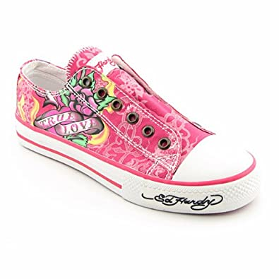 83d2fefa0 Amazon.com | ED HARDY Lowrise Pink Sneakers Shoes Womens Size 5 | Fashion  Sneakers