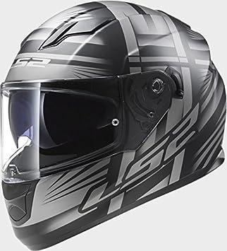 LS2 FF320 Stream Bang mate negro titanio casco de moto, LS2 FF320, negro,