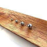 Hanchen Stainless Steel Grinding Balls Media Beads 250g LabBallMillGrindingMedia for Lab Planetary Ball Mill (10mm, 420)