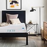 LUCID 6 Inch Gel Infused Memory Foam Mattress - Firm Feel - Perfect for Children - CertiPUR-US Certified - 10 Year warranty - Twin XL
