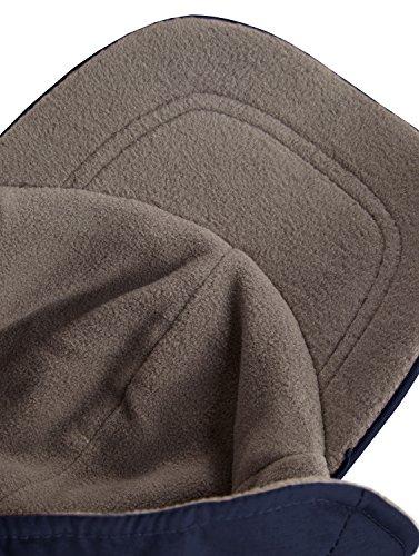 Interior Gorro única talla con Invierno cordón wintercap Forro polar ajustable azul y oído forro marino Protección marino azul de Cd7ZZaqwx