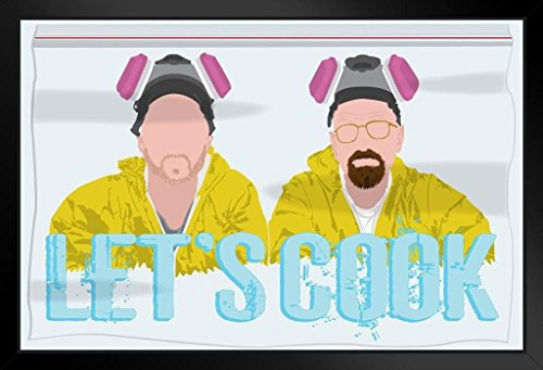 [ProFrames Lets Cook Minimalist TV Show Framed Poster 12x18] (Breaking Bad Jesse Costumes)