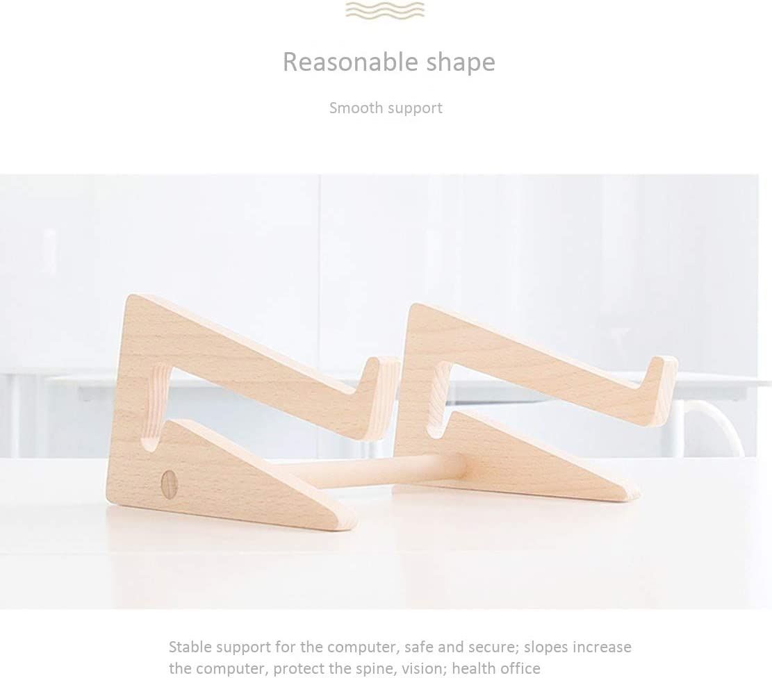 Beech Laptop Stand Multifunction Notebook Computer Desk with Hollow Heat Dissipation Fit for 11-15.6 inches Computer