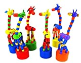 DAISY*VZU Kid Developmental Toy Dancing Rocking Standing Giraffe Wooden Toys
